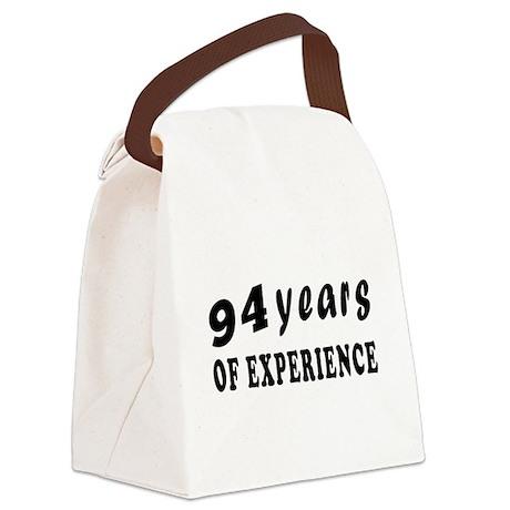 94 years birthday designs Canvas Lunch Bag