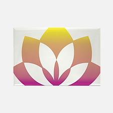 Oriental Flower Rectangle Magnet