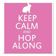 Keep calm and hop along for easter Square Car Magn