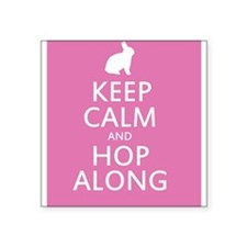 Keep calm and hop along for easter Sticker