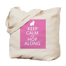 Keep calm and hop along for easter Tote Bag