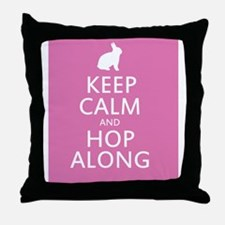 Keep calm and hop along for easter Throw Pillow
