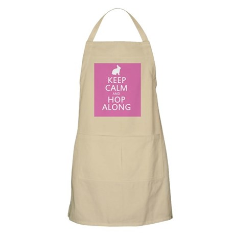 Keep calm and hop along for easter Apron