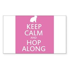 Keep calm and hop along for easter Decal