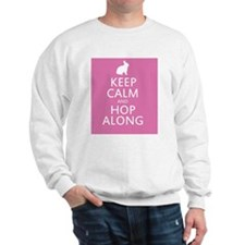 Keep calm and hop along for easter Sweatshirt