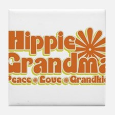 Hippie Grandma Tile Coaster