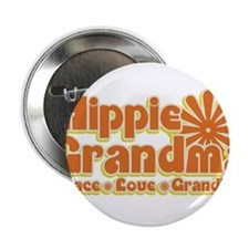 "Hippie Grandma 2.25"" Button"