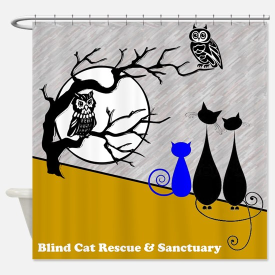 Cats Owls Shower Curtain