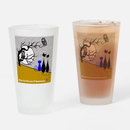 Cats Owls Drinking Glass