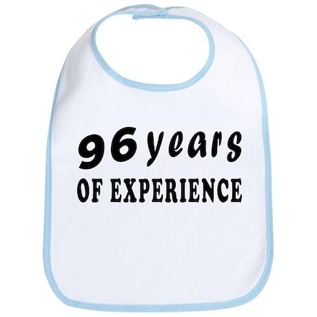 96 years birthday designs Bib
