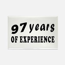 97 years birthday designs Rectangle Magnet
