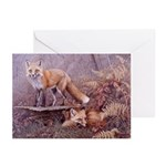 Red Foxes Christmas Cards (Pk of 10)