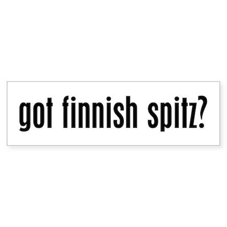 Got Finnish Spitz? Bumper Sticker