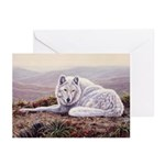 White Wolf Christmas Cards (Pk of 10)