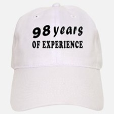 98 years birthday designs Baseball Baseball Cap