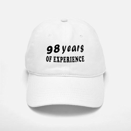 98 years birthday designs Baseball Baseball Cap