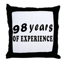 98 years birthday designs Throw Pillow