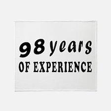98 years birthday designs Throw Blanket