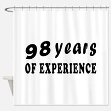98 years birthday designs Shower Curtain