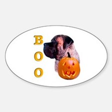 Brindle with Pumpkin Oval Decal