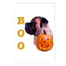 Brindle with Pumpkin Postcards (Package of 8)