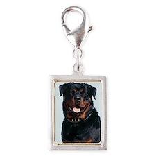 Rottweiler Silver Portrait Charm