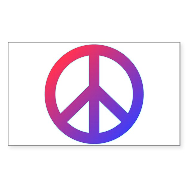 purple blue red peace sign decal by peaceandloveshop
