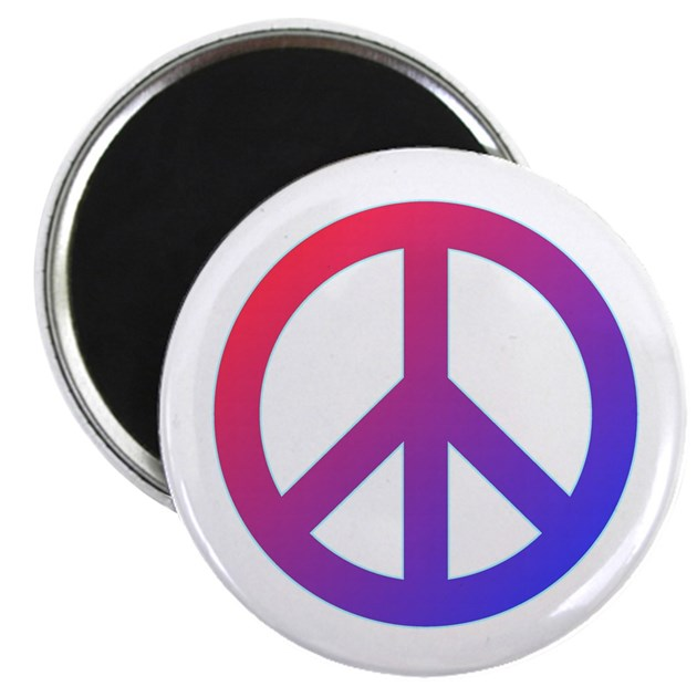 purple blue red peace sign magnet by peaceandloveshop