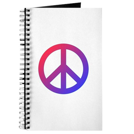 purple blue red peace sign journal by peaceandloveshop