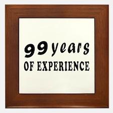 99 years birthday designs Framed Tile