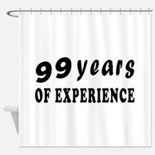 99 years birthday designs Shower Curtain