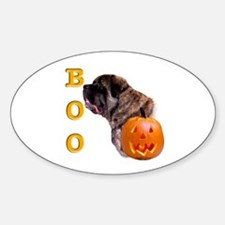 Fluffy with Pumpkin Oval Decal