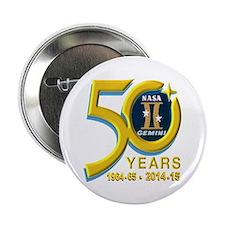 """Gemini's 50th Anniversary! 2.25"""" Button"""