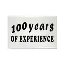 100 years birthday designs Rectangle Magnet
