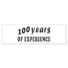 100 years birthday designs Bumper Sticker