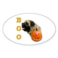 Fawn with Pumpkin Oval Decal