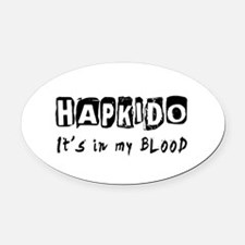 Hapkido Martial Arts Oval Car Magnet