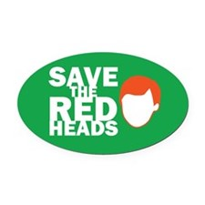 Save the Redheads Oval Car Magnet