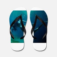 Into the Blue Flip Flops
