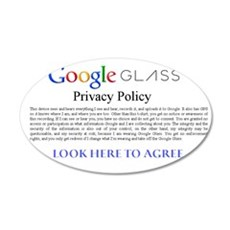Google Glass Privacy Policy Wall Decal