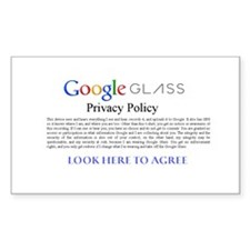 Google Glass Privacy Policy Decal