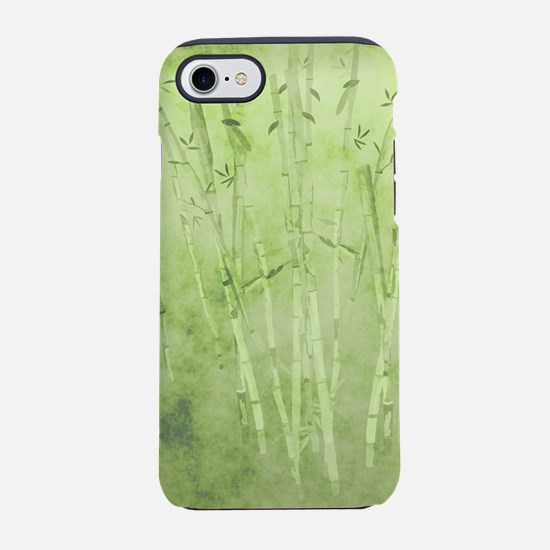 Green Bamboo Stalks iPhone 7 Tough Case