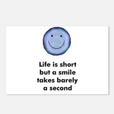 Life is short but a smile tak Postcards (Package o