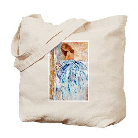 Blue Dress Tote Bag