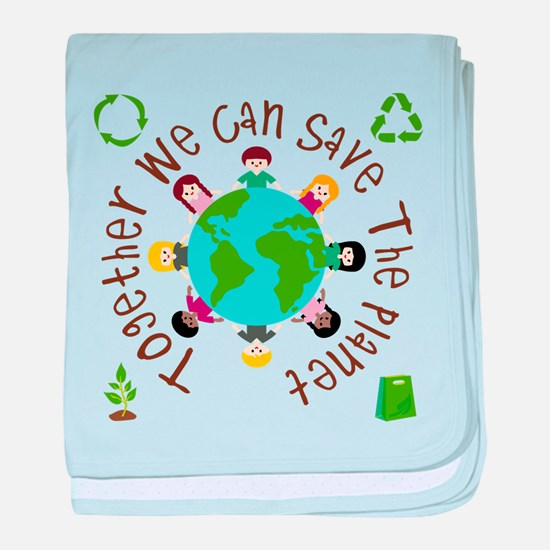 Together Save the Planet baby blanket