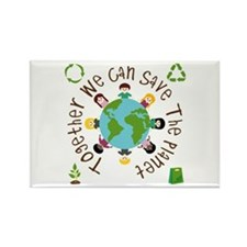 Together Save the Planet Rectangle Magnet