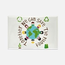 Together Save the Planet Rectangle Magnet (100 pac