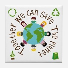 Together Save the Planet Tile Coaster