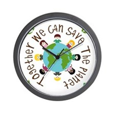 Together Save the Planet Wall Clock