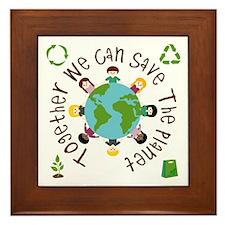 Together Save the Planet Framed Tile